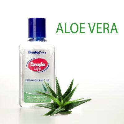 BradoLife kézfertőtlenítő gél 50 ml - aloe vera