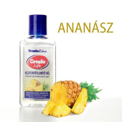 BradoLife kézfertőtlenítő gél 50 ml - ananász