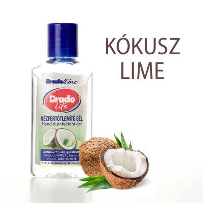 BradoLife kézfertőtlenítő gél 50 ml - kókusz-lime