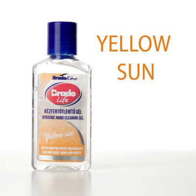BradoLife kézfertőtlenítő gél 50 ml - Yellow sun