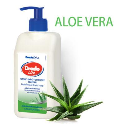 BradoLife fertőtlenítő folyékony szappan 500 ml - aloe vera