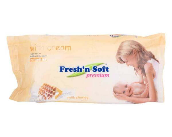 Freshn soft popsitörlő honey&milk premium - 72db ut.