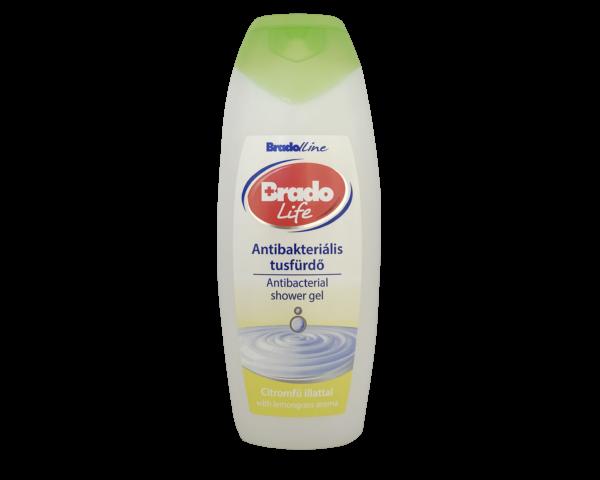 BradoLife antibakteriális tusfürdő 400 ml Citromfű