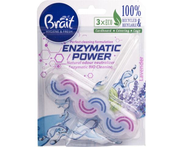 Brait környezetbarát wc deo kétfázisú- enzymatic power - 45gr - levendula