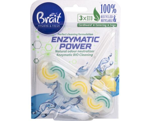 Brait környezetbarát wc deo kétfázisú- enzymatic power - 45gr - citrom