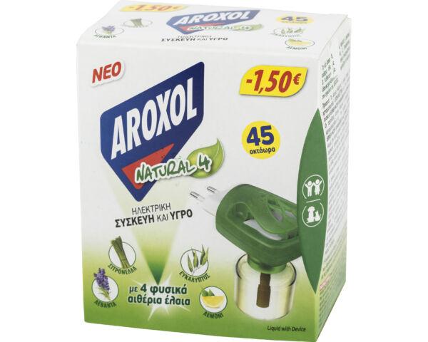 Aroxol natural 4 szúnyogirtó elektromos készülék