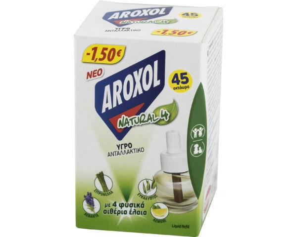 Aroxol natural 4 szúnyogirtó elektromos készülék utántöltő folyadék - 22,5 ml