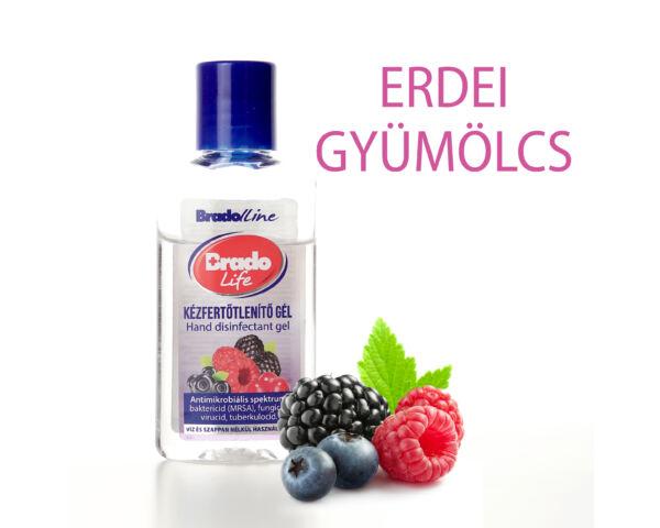 BradoLife kézfertőtlenítő gél 50 ml - erdei gyümölcs