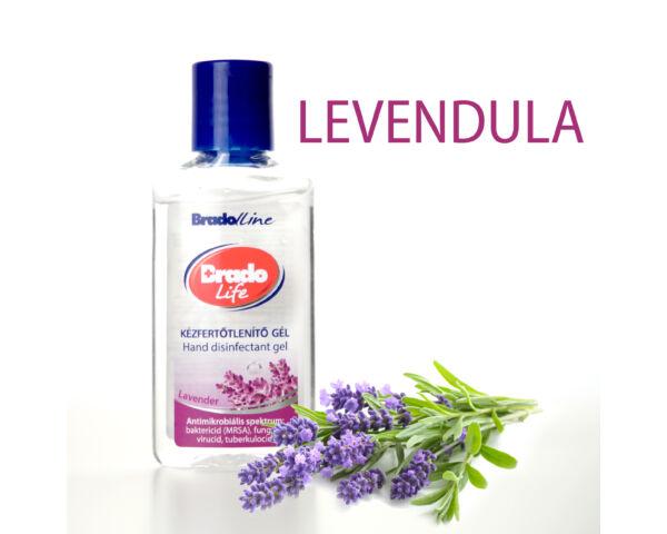 BradoLife kézfertőtlenítő gél 50 ml - levendula