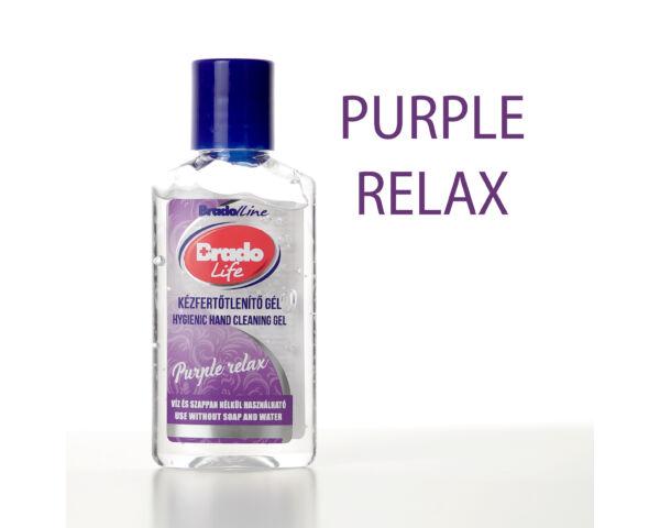 BradoLife kézfertőtlenítő gél 50 ml -  Purple relax