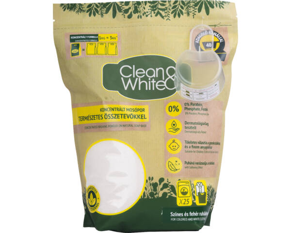 Clean&White mosószappan 1kg darált