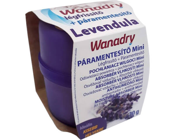 Wanadry páramentesítő és légfrissítő készülék 70g Levendula