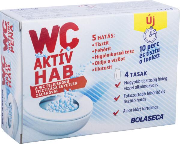 Bolaseca wc tisztító aktív hab 4x55g